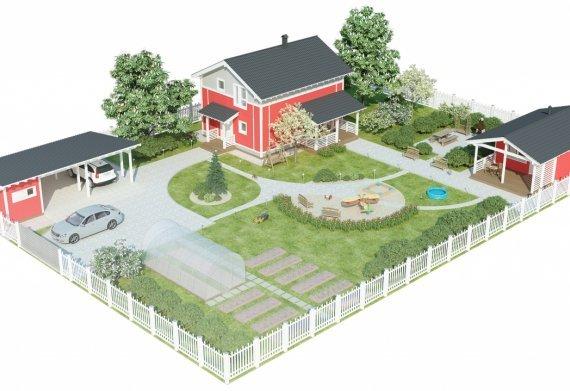 Расположение построек на участке (планировка построек на участке)