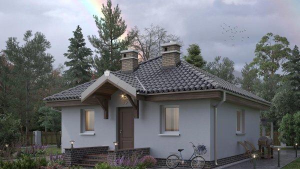 Проект дома мини Квадра (E-368)