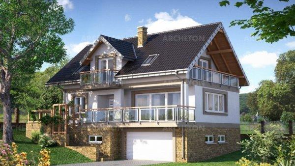 Проект дома Открытка Сток (E-1070)