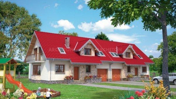 Проект дома Зоя Люкс Дуо (E-961)